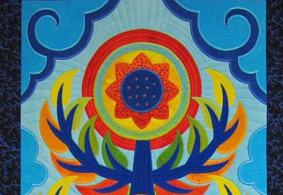 Detail of Jane Sassaman Quilt
